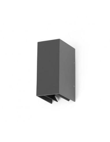 Aplique exterior FARO BLIND 70634 blind gris oscuro led 2x3w 3000k - Apliques exterior, Apliques exterior