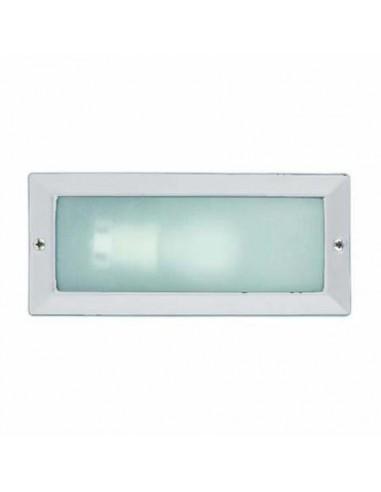 Empotrable exterior FARO LISO 71490 liso blanco 1l e27 - Empotrables exterior, Empotrables exterior
