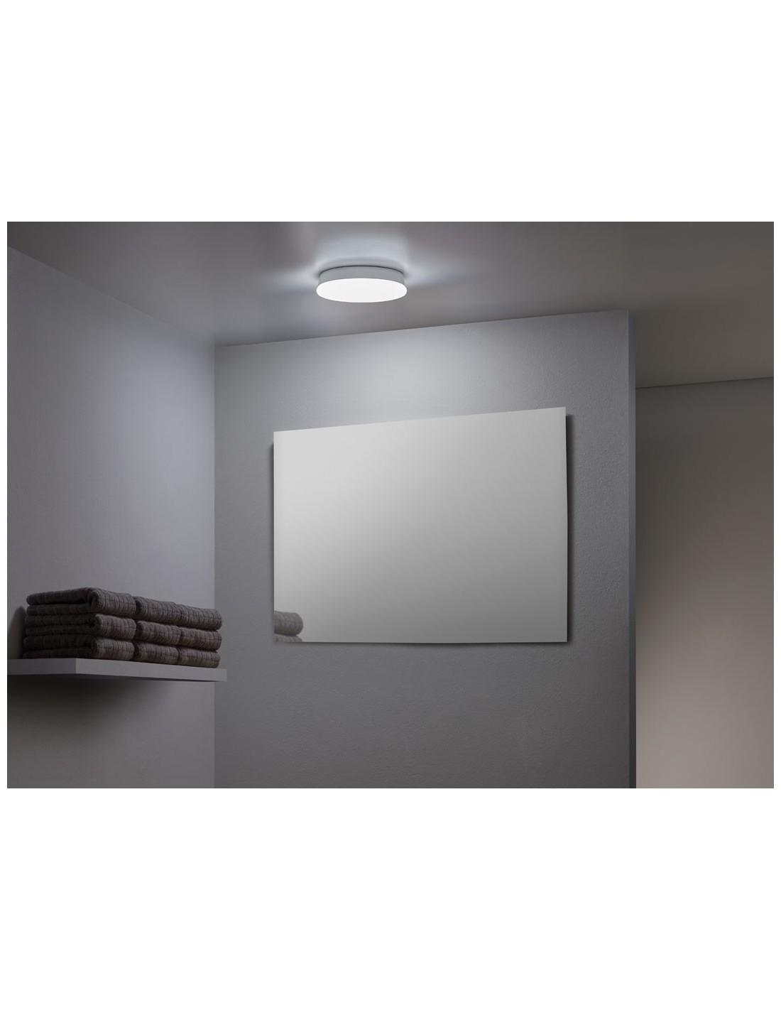 Ventilateur de plafond rodas leds c4 gris - Ventilateur de plafond sans luminaire ...