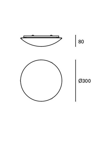 Encastrable led APOLO 070691801 Ø22cm 18w 4000k 1400Lm