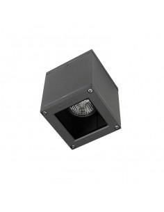 Plafón exterior AFRODITA 15-9480-Z5-37 LEDS-C4 1xGU10 gris oscuro 9x9cm IP54, Plafones exterior