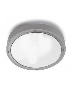 Plafón exterior BASIC 15-9491-34-M3 LEDS-C4 1xE27 gris diam 26cm IP65, Plafones exterior