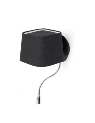 Aplique moderno FARO SWEET 29951 sweet negro 1 e27 con lector led, Lámparas modernas
