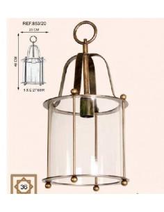 Lampe de table verre moyen Elisabeht 1xe14 avec abat-jour noire 51x28cm