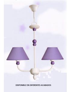 Lampe de table San Remo blanc Lune-champagne 1xe14 38x17 cm