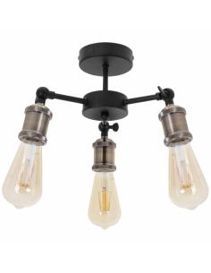Lampe de pied Nobel chromé-noir 1xe27 152x50cm
