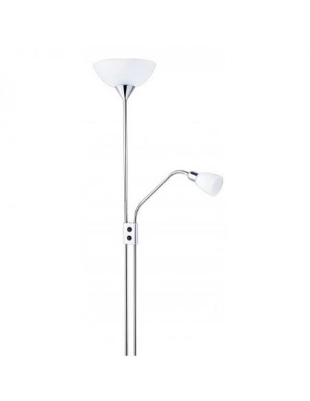 Lampe de table chromé noir avec verre ovale 3xe14 57x33 cm