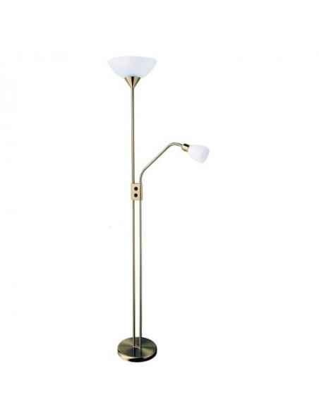 Lampe de table chromé Zinc avec verre ovale 3xe14 57x33 cm