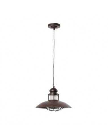Lámpara colgante rústica FARO WINCH 66204 winch 1l e27 marron, Lámparas rústicas