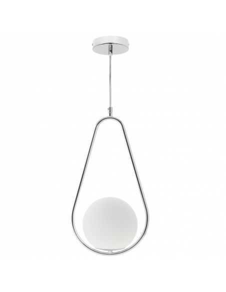 Lampe de pied Led Giza blanc-chromé 24w 1920lm 160xx24cm