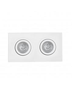 Foco empotrable FARO RADON 43397 orientable blanco 2xGU10, Lámparas modernas