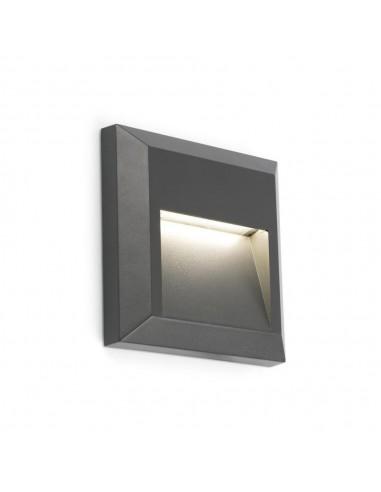 Aplique exterior FARO GRANT 70655 gris oscuro led 1w 3000k IP65, Apliques exterior