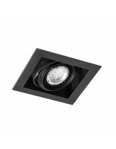 Foco empotrable Gingko 03030102 Faro orientable  1l qr-111 100w negro, Lámparas modernas