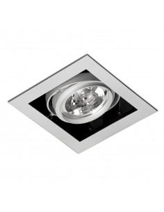 Foco empotrable Gingko 03030103 Faro orientable 1l qr-111 100w gris, Lámparas modernas