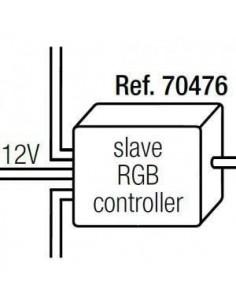 Controlador FARO CONTROL LED 70476 rgb ir-v slave, Tiras de leds y accesorios exterior