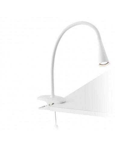 Flexo led de pinza FARO LENA 52059 blanco 5w 4000k, Lámparas modernas