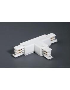 Conector intermedio 01990901 FARO en t blanco derecha, Carriles y accesorios proyectores