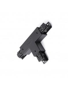 Conector intermedio 01991602 FARO en t negro izquierda, Carriles y accesorios proyectores