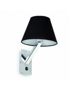 Aplique moderno FARO MOMA 68505 moma-1 negro 1l e27 - Apliques modernos, Lámparas modernas