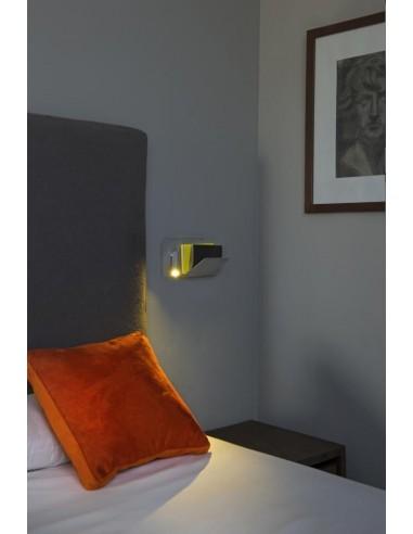 Aplique de pared SUAU 62125 FARO izquierdo gris plata usb led 3w 3000k, Lámparas modernas