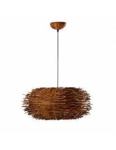 Lámpara rattan FARO NIDO 68153 nido d60 cms marron 1l e27, Estilo étnico y rattan