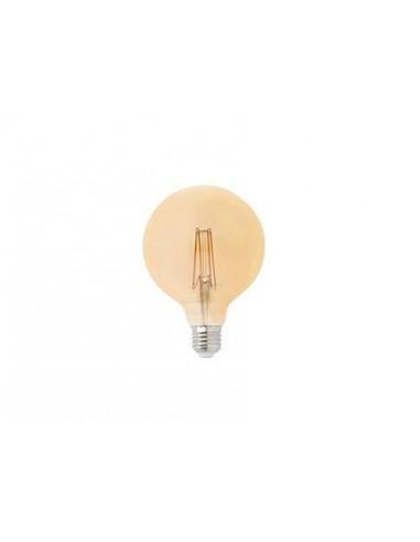 Bombilla E27 LED 17434 FARO globo filamento ambar 5w 2200k dimable, Bombillas globo