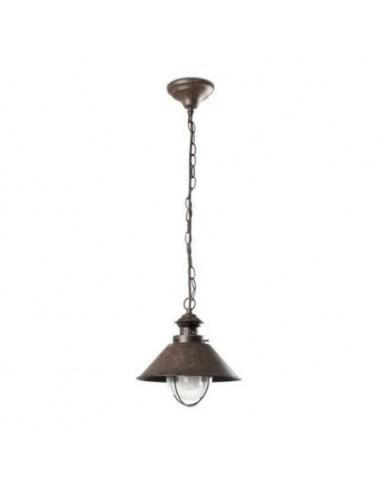 Lámpara colgante exterior FARO NAUTICA 71138 nautica-1p 20cm marron oxido 1l e27, Colgantes exterior