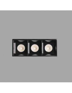 Empotrables TROOP 43705 FARO negro trimless 3x2w 3000k 30°, Lámparas modernas