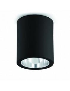 Plafón en superficie FARO POTE 63125 pote-1 negro 1l e27 - Plafones modernos, Plafones de techo