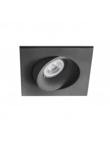 Foco empotrable Argon 43412 Faro orientable cuadrado negro gu10-mr16-led, Lámparas modernas