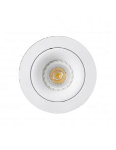 Foco empotrable FARO ARGON 43401 orientable redondo blanco GU10, Lámparas modernas