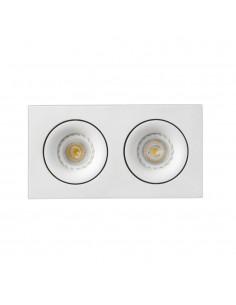 Foco empotrable FARO ARGON 43403 orientable cuadrado blanco 2xGU10, Lámparas modernas