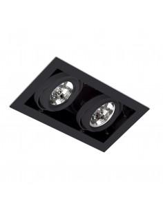 Foco empotrable Gingko 03030202 Faro orientable 2l qr-111 100w negro, Lámparas modernas