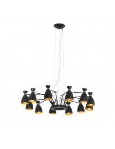 Lámpara de techo RETRO 20048 FARO negro oro 12l e14, Lámparas modernas