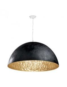 Lámpara de techo moderna FARO MAGMA 29468 magma-p 3l e27 negro-oro ø70 cm, Lámparas modernas