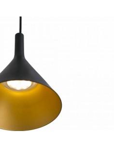 Lámpara colgante moderna FARO PAM 64162 pam-g negro-oro led 24w 3000k, Lamparas para cocinas