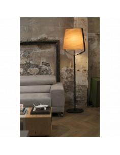 Lámparas de pie 29847 STOOD FARO e27 negro + madera max 20w, Lámparas modernas