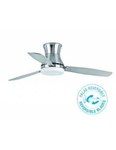Ventilador de techo FARO TONSAY 33385 132cm niquel mate 2l e27 con mando a distancia, Ventiladores faro