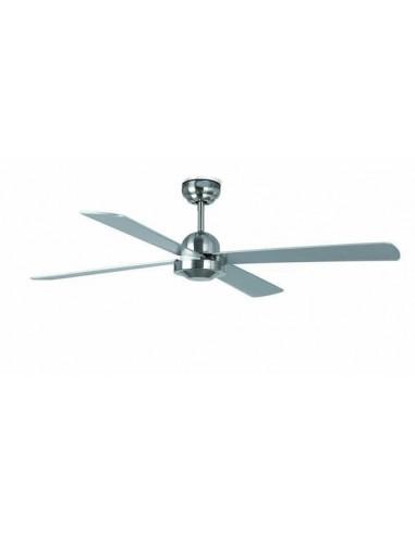 Ventilador de techo FARO IBIZA 33287 ø 132cms niquel mate con mando, Ventiladores sin luz