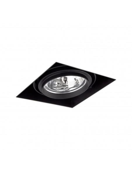 Foco empotrable Gingko 03040102 Faro orientable sin marco 1l qr-111 100w negro, Lámparas modernas