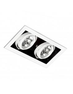 Foco empotrable Gingko 03030201 Faro orientable  2l qr-111 100w blanco, Lámparas modernas