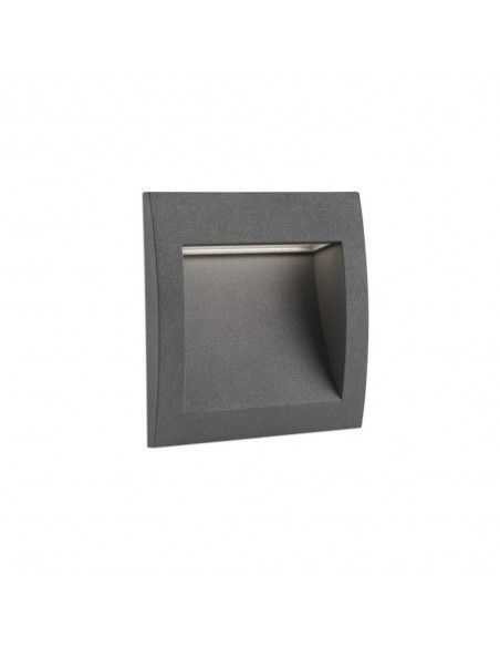 Empotrable exterior FARO SEDNA 70148 gris oscuro led 3w 3000k 122 Lm IP65, Empotrables exterior