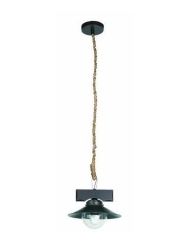 Lámpara colgante rústica FARO NUDOS 68139 nudos 1l e27 marron oxido, Lámparas rústicas
