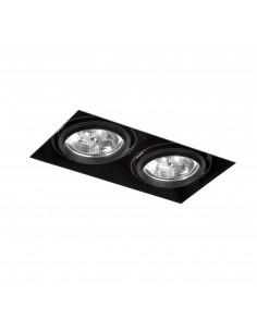 Foco empotrable Gingko 03040202 Faro orientable sin marco 2l qr-111 100w negro, Lámparas modernas