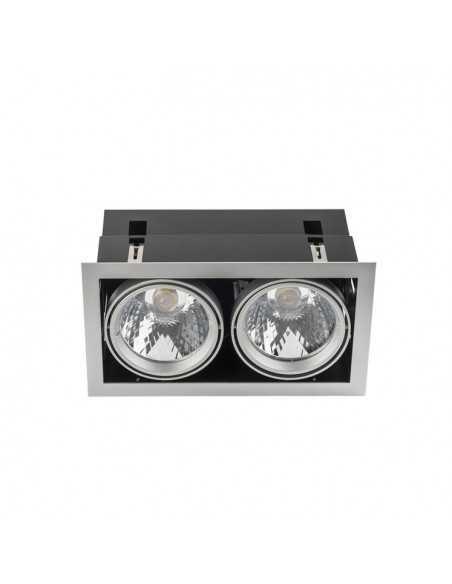 Applique de mur FLAT 05-5093-81-B9 LEDS C4 8 x led cree 8w nickel satin