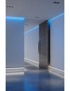 Balise extérieure CUBIK 55-9549-34-M3 LEDS-C4 1xE27 grise grand 90cm IP54