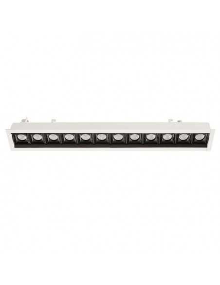Encastrable de plafond extérieur EASY TC-0150-BLA 90x LED 15.5W 1510 lm blanc mat