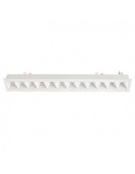 Encastrable de plafond extérieur EASY TC-0151-BLA 90x LED 15.5W 1510 lm blanc mat