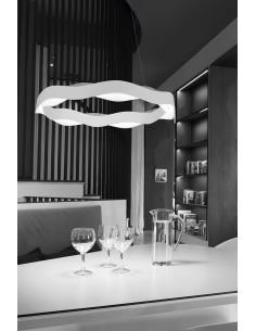 Lampe NEO 00-2749-T4-11 LEDS-C4 1xE27 argent et bleu
