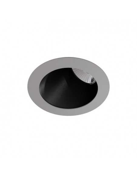 Plafonnier moderne FARO TOLA 62983 tola-1 27x27 cms 1l ip44 argent